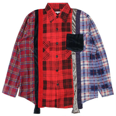 "REBUILD BY NEEDLES(リビルドバイニードルス)""7 Cuts Flannel Shirt - Inserted 4 Cluths"" sizeS"