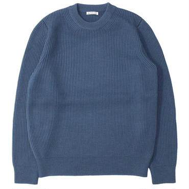 "AURALEE(オーラリー)""SUPER FINE WOOL RIB KNIT P/O"""