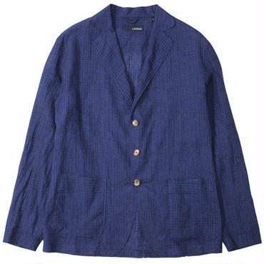 "LARDINI(ラルディーニ)""Linen Check 3B Shirt Jacket"""