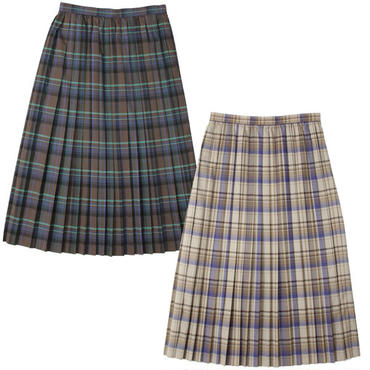 "Ladies' /AURALEE(レディース オーラリー)""SUPER LIGHT WOOL CHECK PLEATED SKIRT"""