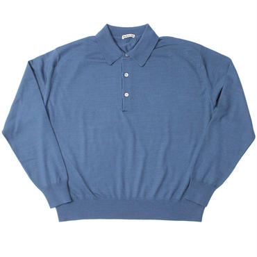 "Ladies' /AURALEE(レディース オーラリー)""WOOL CASHMERE HIGH GAUGE KNIT POLO"""