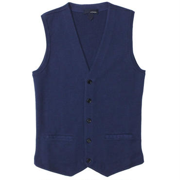 "LARDINI(ラルディーニ)""Cotton Ribs Knit Gillet"""