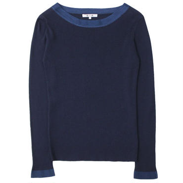 "Ladies' /three dots (レディース スリードッツ) ""rib cotton l/s boat neck"""