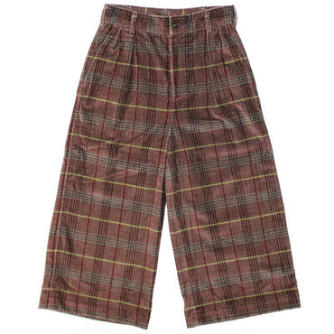 "Ladies' /NEEDLES WOMAN(ニードルス ウーマン)""Cropped Baggy Pant - Printed Velveteen / Plaid"""