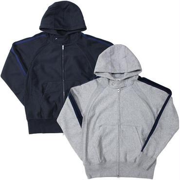 "Engineered Garments(エンジニアード ガーメンツ)""Raglan Zip Hoody - CP Fleece"""