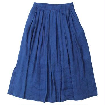 """Ladies' /BLUE BLUE JAPAN(レディース ブルーブルージャパン)""""インディゴリネンレーヨン タックスカート"""""""