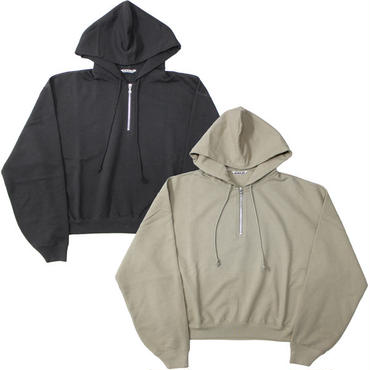 "Ladies /AURALEE(レディース オーラリー)""SUPER SOFT SWEAT BIG HALF ZIP P/O PARKA"""