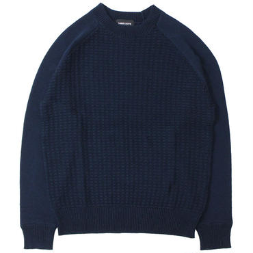 "three dots (スリードッツ) ""TUCK STITCH L/S CREW NECK PO"""