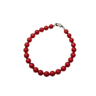 "NEEDLES(ニードルス)""Bracelet - Red Coral"""