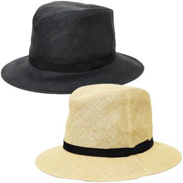 "KIJIMA TAKAYUKI(キジマ タカユキ)""PAPER CLOTH BRIM RIBBON HAT [No.161345]"""