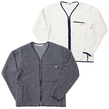 "Battenwear(バテンウェア)""LODGE CARDIGAN""HEATHER GRAY/IVORY【2015 F/W】"