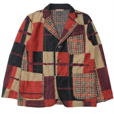"Engineered Garments(エンジニアード ガーメンツ)""Knit Jacket - Gun Club Multi Check Knit"""
