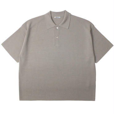 "AURALEE(オーラリー)""WASHABLE WOOL RIB KNIT BIG POLO"""