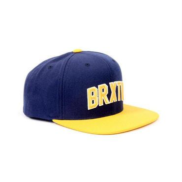 BRIXTON(ブリクストン) HAMILTON SNAP BACK ハミルトン NAVY/GOLD スナップバックキャップ/ハット/CAP/SNAP BACK