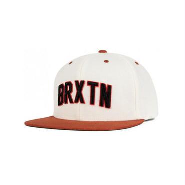 BRIXTON(ブリクストン) HAMILTON SNAP BACK ハミルトン WHITE/BURNT ORANGE スナップバックキャップ/ハット/CAP/SNAP BACK