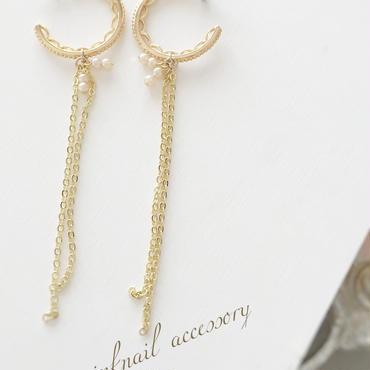 perl chain hoop  pierce
