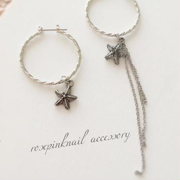 cool  starfish  hoop  pierce