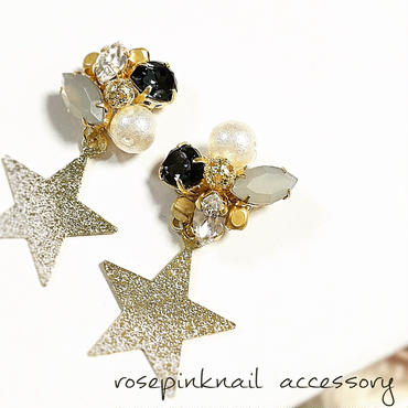 swarovski  star  pierce