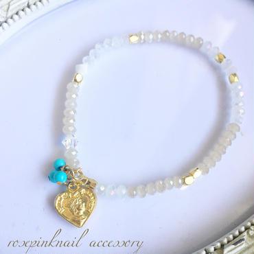 heart  turquoise  summer bracelet