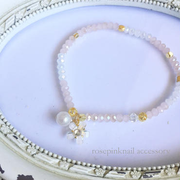 flower pearl  beads bracelet
