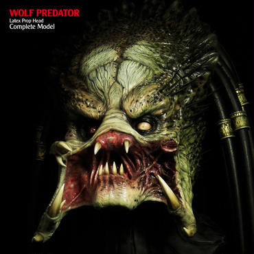 WOLF PREDATOR  Latex Prop Head Complete
