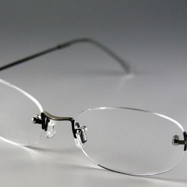 枠なし遠近両用老眼鏡(境目あり)・ライトタイプ(ガンメタ)