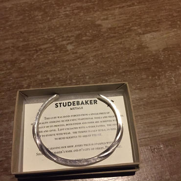 STUDEBAKER METALS UNTWISTED CUFF Sterling Silver