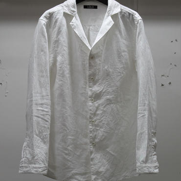 LOLO ロロ 40/1リネンノッチドカラーシャツ