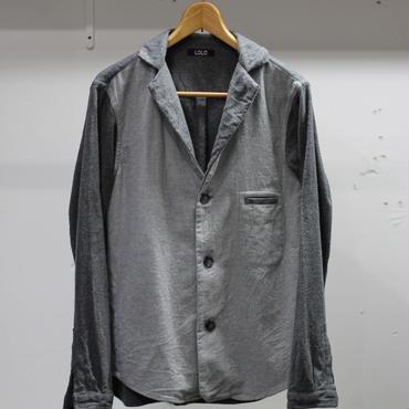 【SALE】 LOLO バイカラーノッチドシャツ