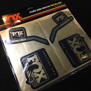 FOX 2016 FORK & SHOCK DECAL KIT ヘリテージ デカールキット Chrome シリーズ
