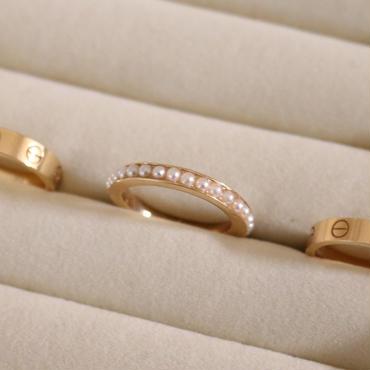 eternity pearl ring