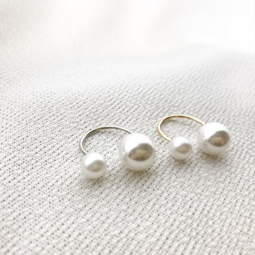 asymmetry pearl ring/gold・silver