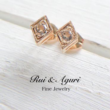 18K カノンピアス ダイヤモンド、ホワイトゴールド