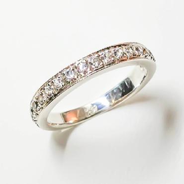 プラチナ900 ハーフエタニティーリング ダイヤモンド