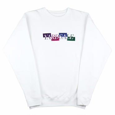 Yardsale  WHITE PANEL SWEATSHIRT