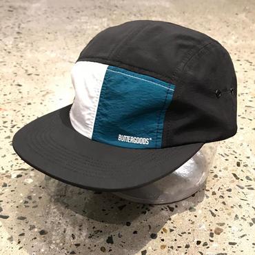 BUTTER GOODS SPLIT 5 PANEL OUTLINE CAMP CAP, BLACK