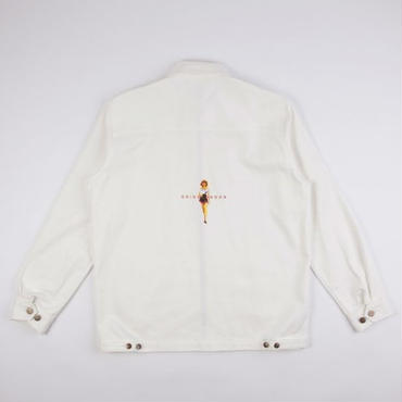 GRIND LONDON DENIM JACKET  -WHITE
