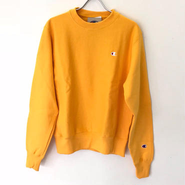 CHAMPION REVERSE WEAVE CREW NECK -GOLD