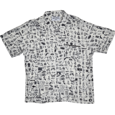 FUCKING AWESOME Dictionary Cabana Button Down - White