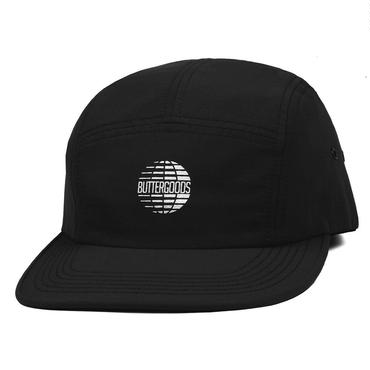 BUTTER GOODS MULTINATIONAL LOGO 5 PANEL CAP-BLACK