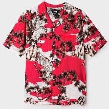 STUSSY FALCON SHIRT-RED