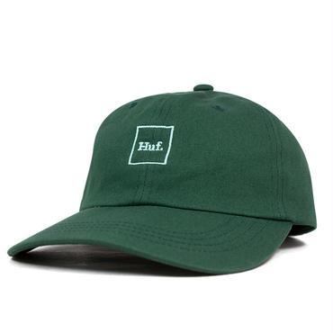 HUF  DOM BOX LOGO CURVE BRIM HAT-DARK GREEN-