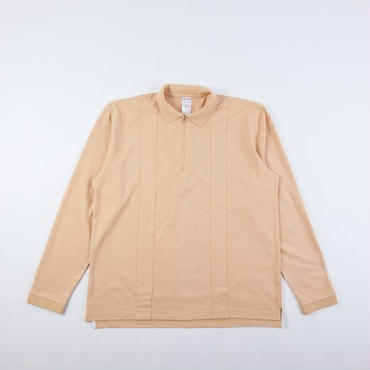 GRIND LONDON LS POLO SHIRT - CREAM