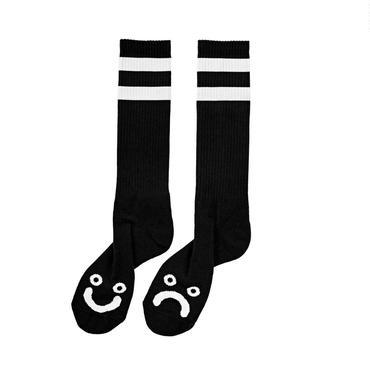 POLAR SKATE CO HAPPY SAD SOCKS-Black