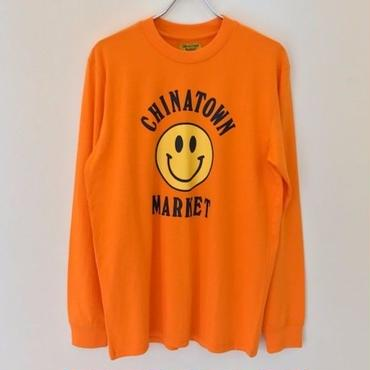 CHINATOWN MARKET LONG SLEEVE TEE-ORANGE