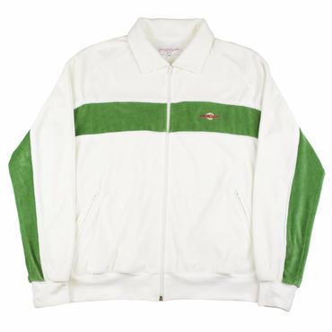 Yardsale  WHITE/GREEN VELOUR TRACK-TOP