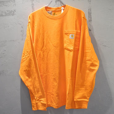CARHARTT K126 LONG SLEEVE WORKWEAR POCKET T-SHIRT Orange