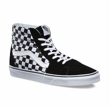 VANS CHECKERBOARD SK8-HI-BLACK/TRUE WHITE