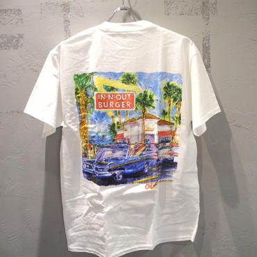 IN-N-OUT BURGER 2008 60TH ANNIVERSARY T shirt - WHITE
