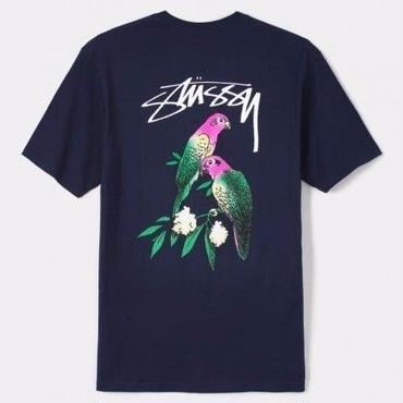 STUSSY Parrots Tee-NAVY